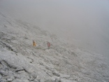Aufziehender Nebel während der Kamm-Querung