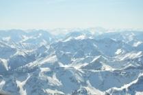 Flug Alpen